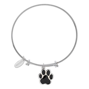 Karma Guide Dogs NI Paw Silver Bangle  - Click to view larger image