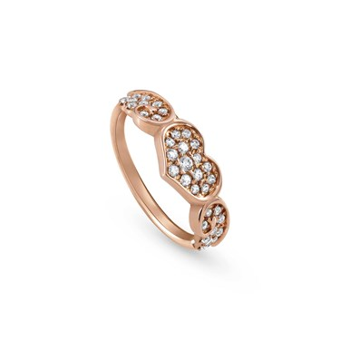 Nomination Angel Love Rose Gold Crystal Ring  - Click to view larger image