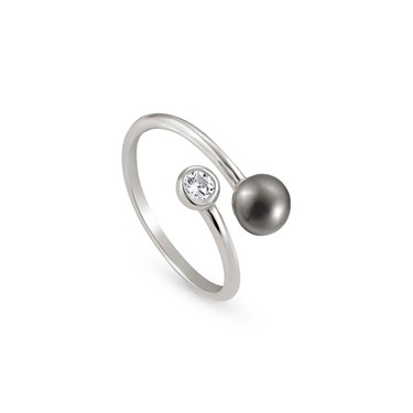 Nomination Bella Moonlight Open Grey Pearl Ring  - Click to view larger image
