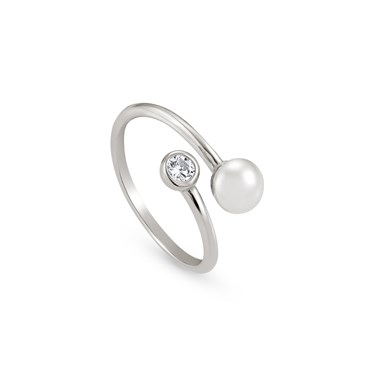Nomination Bella Moonlight Open Pearl Ring  - Click to view larger image