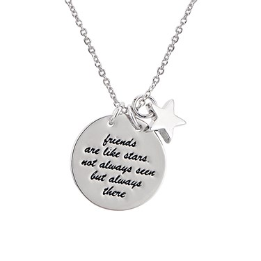 Karma Silver Friendship Necklace   - Click to view larger image