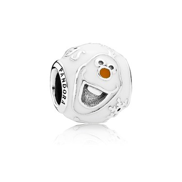 Pandora Disney Olaf Silver Charm  - Click to view larger image