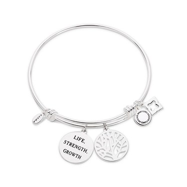 Karma Silver Tree Bangle   - Click to view larger image