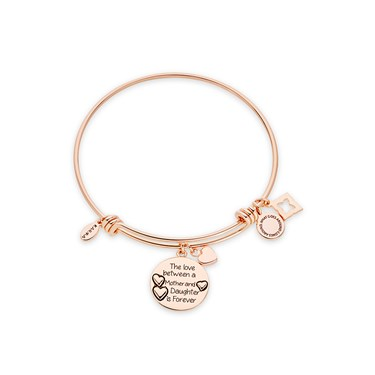Karma Rose Gold Mother Daughter Bangle  - Click to view larger image