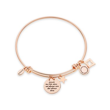 Karma Rose Gold Friendship Bangle  - Click to view larger image