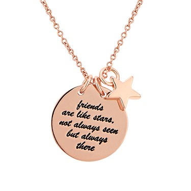 Karma Rose Gold Friendship Necklace  - Click to view larger image