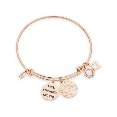 Karma Rose Gold Tree Bangle  - Click to view larger image