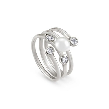 Nomination Bella Moonlight Layered Pearl Ring  - Click to view larger image