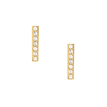 Kate Spade New York Dainty Sparklers Gold Bar Stud Earrings  - Click to view larger image