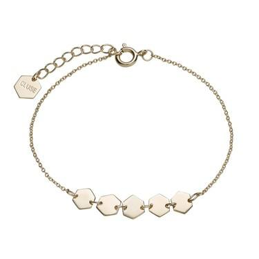 CLUSE Gold Hexagons Chain Bracelet  - Click to view larger image