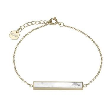 CLUSE Idylle Gold Marble Bar Chain Bracelet  - Click to view larger image