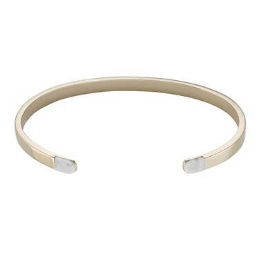 CLUSE Idylle Gold Marble Open Cuff Bracelet  - Click to view larger image