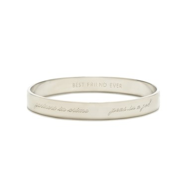 Kate Spade New York Silver Bridesmaid Bangle Engraved  - Click to view larger image