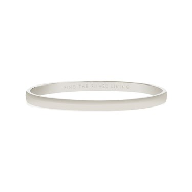 Kate Spade New York Find The Silver Lining Idiom Bangle  - Click to view larger image