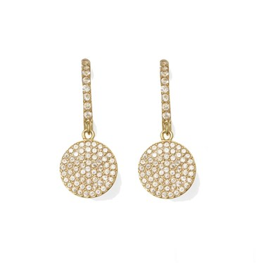 Kate Spade New York Shine On Pavé Gold Drop Earrings  - Click to view larger image
