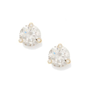 Kate Spade New York Rise and Shine Small Clear Stud Earrings  - Click to view larger image