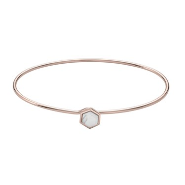 CLUSE Idylle Rose Gold Marble Hexagon Bangle  - Click to view larger image