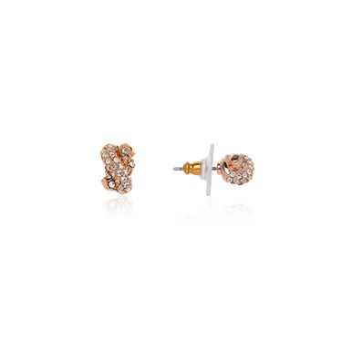 Kate Spade New York Sailors Knot Rose Pavé Stud Earrings  - Click to view larger image