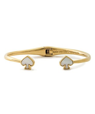 Kate Spade New York Signature Spade Cream Open Hinged Cuff  - Click to view larger image