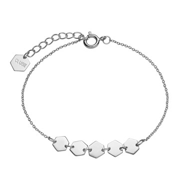 CLUSE Silver Hexagons Chain Bracelet  - Click to view larger image