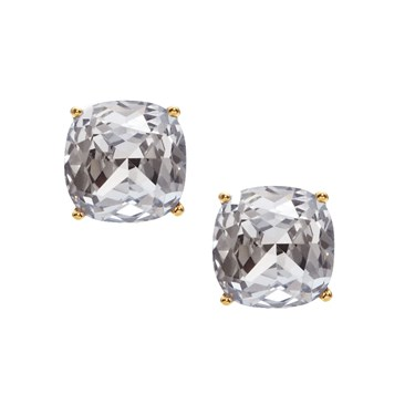 Kate Spade New York Small Clear Square Stud Earrings  - Click to view larger image