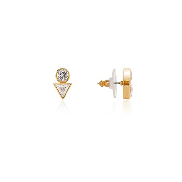 Kate Spade New York Bright Ideas Gold Triangle Stud Earrings  - Click to view larger image