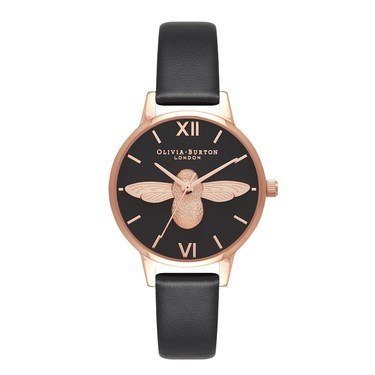 Olivia Burton 3D Bee Vegan Friendly Black Watch  - Click to view larger image