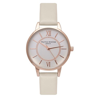Olivia Burton Wonderland Nude & Rose Gold Watch  - Click to view larger image