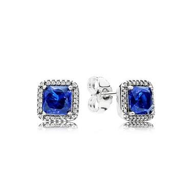 Pandora Blue Timeless Elegance Stud Earrings  - Click to view larger image