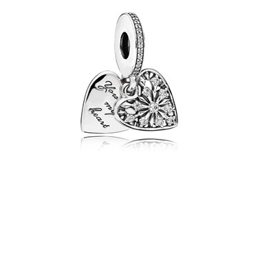 Pandora Heart of Winter Pendant Charm  - Click to view larger image