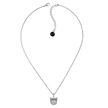 Karl Lagerfeld Silver Choupette Necklace  - Click to view larger image