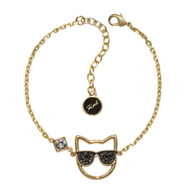 Karl Lagerfeld Gold Sunglasses Choupette Bracelet  - Click to view larger image