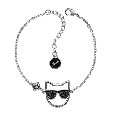 Karl Lagerfeld Silver Sungles Choupette Bracelet Click To View Larger Image