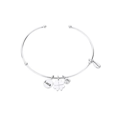 Karma Lucky Clover Bangle   - Click to view larger image