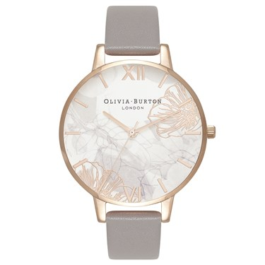 Olivia Burton Exclusive to Argento Abstract Floral Watch   - Click to view larger image