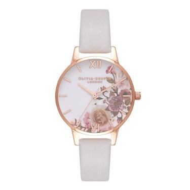 Olivia Burton Enchanted Garden Blush & Rose Gold Watch  - Click to view larger image