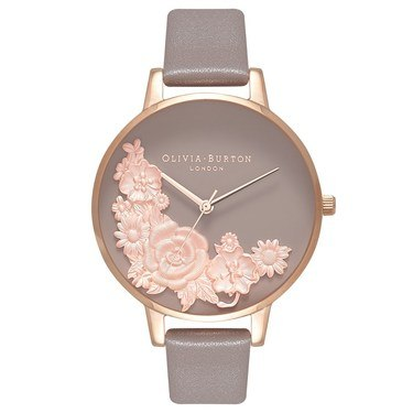 Olivia Burton Floral Bouquet London Grey Watch  - Click to view larger image