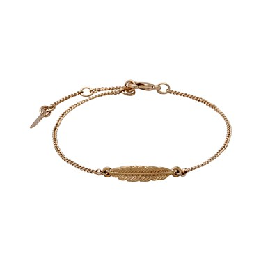 Pilgrim Lauren Rose Gold Feather Bracelet  - Click to view larger image