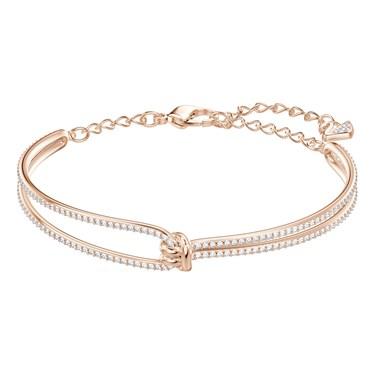 Swarovski Lifelong Rose Gold Bangle  - Click to view larger image