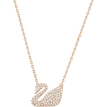 Swarovski Swan Rose Gold Necklace  - Click to view larger image
