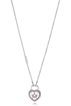 PANDORA Lock Your Promise Necklace  - Click to view larger image