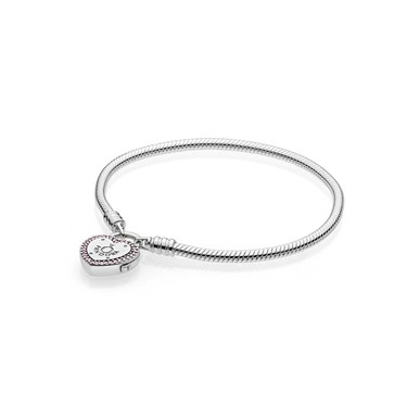 PANDORA Lock Your Promise Heart Clasp Bracelet - Click to view larger image