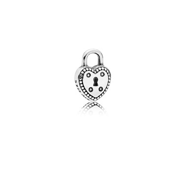PANDORA Love Lock Petite Locket Charm  - Click to view larger image