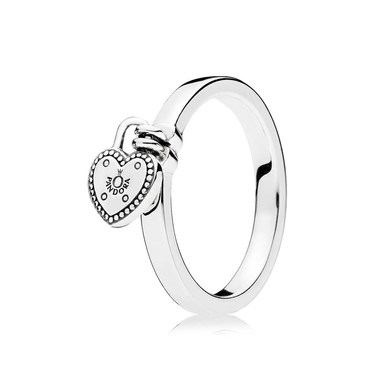 Pandora Love Lock Ring  - Click to view larger image