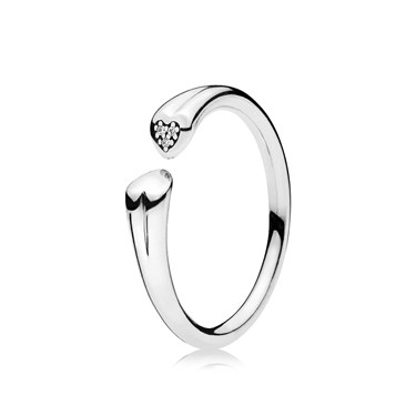 Pandora Two Hearts Ring  - Click to view larger image