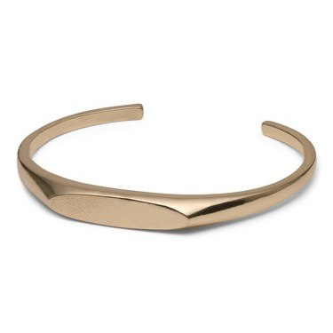 Pilgrim Gold Plated Signet Bangle  - Click to view larger image