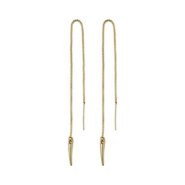 Pilgrim Amara Gold Plated Fang Chain Earrings  - Click to view larger image