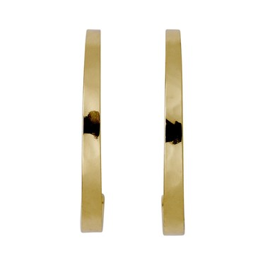 Pilgrim Gold Plated Shining Hoop Earrings  - Click to view larger image