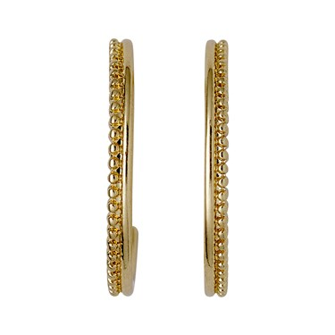 Pilgrim Gold Plated Beaded Hoop Earrings  - Click to view larger image