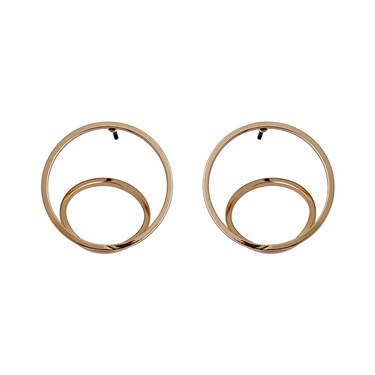 Pilgrim Rose Gold Plated Circle Earrings  - Click to view larger image